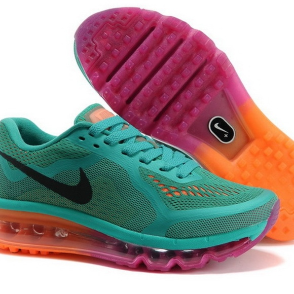 new arrival 79635 f4ea8 Nike Air Max 2014 Green Pink Orange. M 5ac18cd19d20f0466543ed5c
